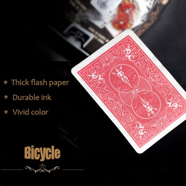 Carte à Jouer Papier Flash couleur rouge( Flash Cards – Bicycle red