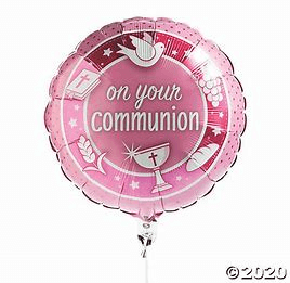 ballon rond communion