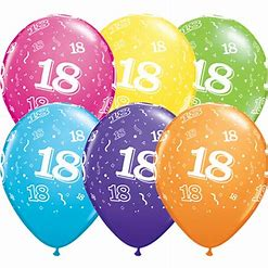 Ballons ovales 18 assortis Qualatex